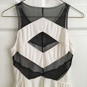 Sparkle & Fade Dresses - UO Sparkle & Fade mesh panel skater dress